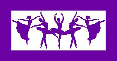Royalty-Free and Rights-Managed Images - Dancing Silhouettes  by Irina Sztukowski