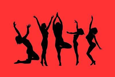 Digital Art - Dancing Silhouettes by John Haldane