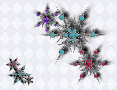 Digital Art - Dancing Snowflakes by Afrodita Ellerman