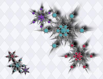 Dancing Snowflakes Art Print