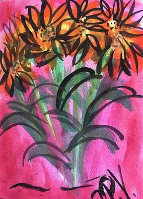 Painting - Dancing Sunflowers  by Dottie Phelps Visker