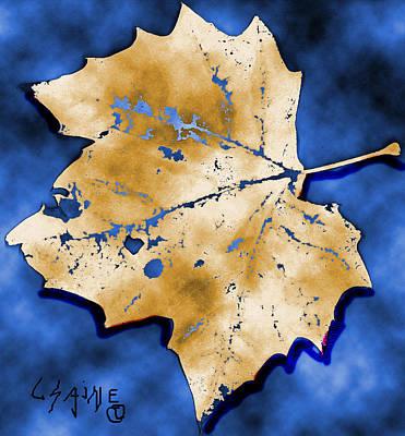 Dancing Tan Leaf Art Print by Carolyn Saine