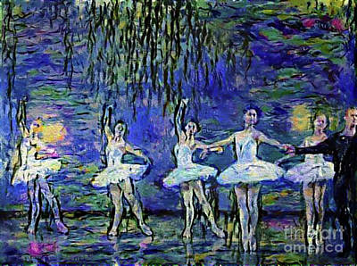Photograph - Dancing To Bizet In A Monet Garden by Nina Silver