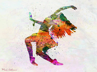 Dancing To The Night  Art Print by Mark Ashkenazi