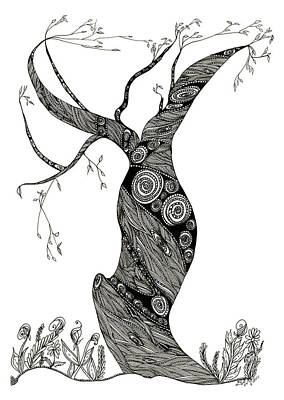 Dancing Tree Art Print