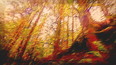 Digital Art - Dancing Trees  by Cathy Anderson