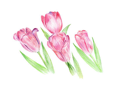 Painting - Dancing Tulips by Elizabeth Lock