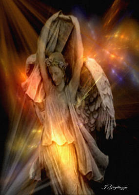 Seraphim Angel Digital Art - Dancing Two by Jean Gugliuzza