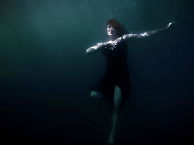 Art Print featuring the photograph Dancing Under The Water by Nicklas Gustafsson