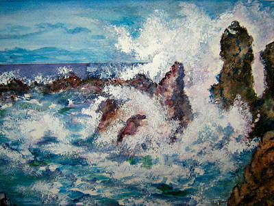 Painting - Dancing Waves by Carol Warner