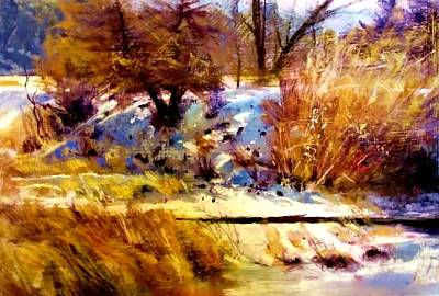 Painting - Dancing Winter Shadows by Joseph Barani