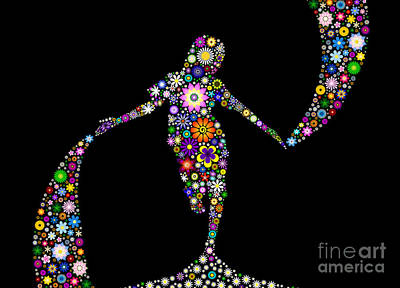 Digital Art - Dancing With Flowers by Tim Gainey