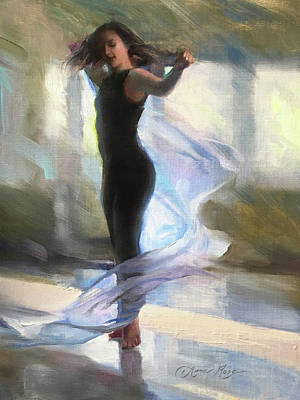Twirl Painting - Dancing With Gossamer by Anna Rose Bain