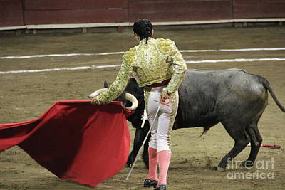 Dancing With The Bull Tlaxcala Mexico Art Print