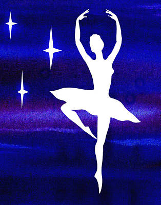 Painting - Dancing With The Stars Ballerina by Irina Sztukowski