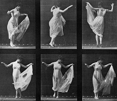 Twirl Photograph - Dancing Woman by Eadweard Muybridge
