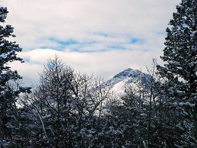 Photograph - Dancing Woman Mountain In The Winter by Tracey Vivar