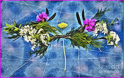 Digital Art - Dandelion Balancing Act Psychedelia by Lise Winne