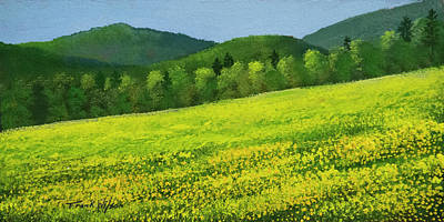 Painting - Dandelion Bloom by Frank Wilson