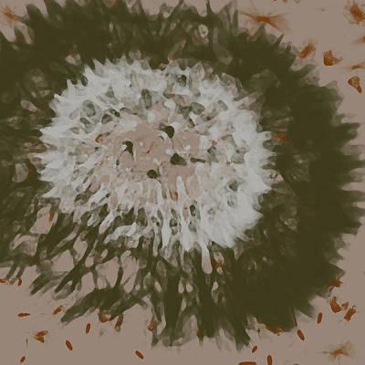Emu Digital Art - Dandelion Emu 3 by Novy Rich