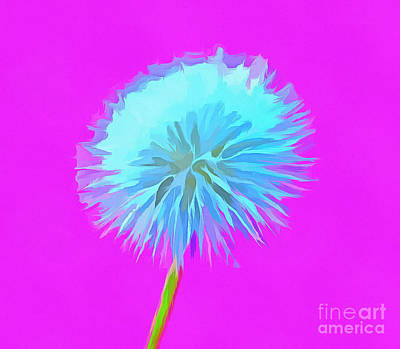 Floral Digital Art Digital Art Digital Art - Dandelion Flair by Krissy Katsimbras