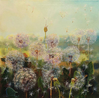 Wall Art - Painting - Dandelion Fluff 1 by Oleg Riabchuk