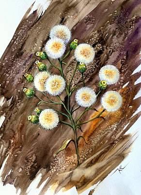 Painting - Dandelion by Katerina Kovatcheva