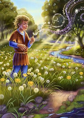Mixed Media - Dandelion - Make A Wish by Anne Wertheim