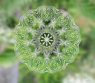 Dandelion Mandala Original by Beltolls Art