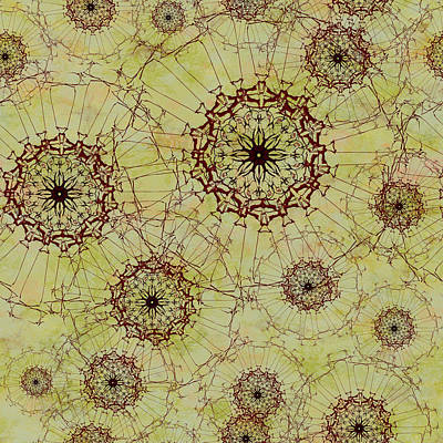 Digital Art - Dandelion Nosegay by Kristin Doner
