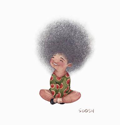Hair Drawing Painting - Dandelion by Soosh