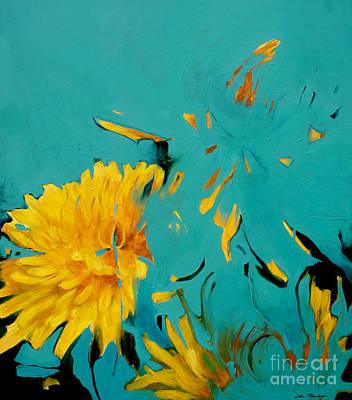 Lin Painting - Dandelion Summer by Lin Petershagen