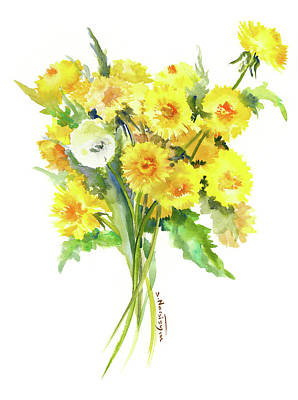 Painting - Dandelion by Suren Nersisyan