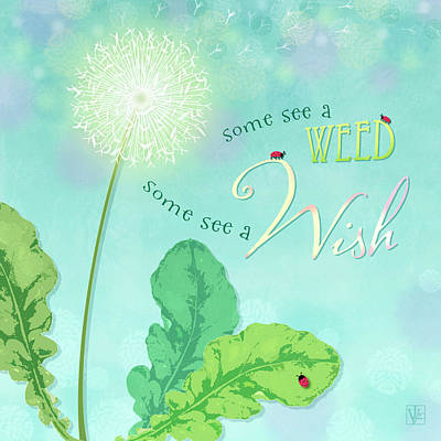 Digital Art - Dandelion Wish by Valerie Drake Lesiak