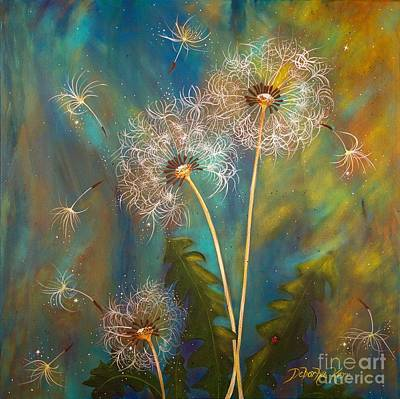 Painting - Dandelion Wishes by Deborha Kerr