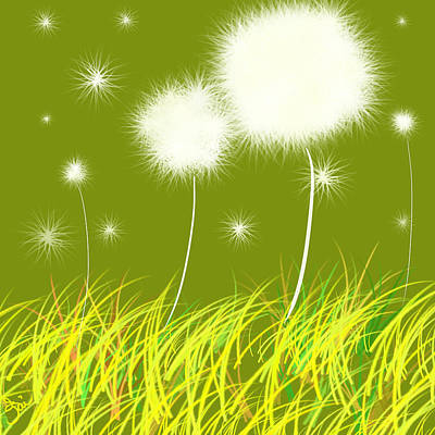 Painting - Dandelions Are Free by Oiyee At Oystudio