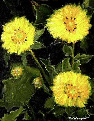 Dandelions By Mary Krupa  Art Print