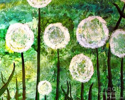 Dandelions Original by Caitlin  Lodato