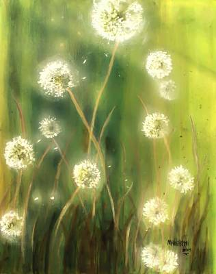 Brilliant Painting - Dandelions by Melissa Herrin