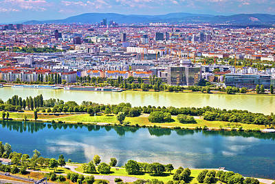 Photograph - Dandube River And Vienna Cityscape View by Brch Photography