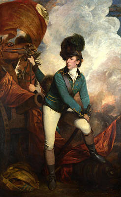 Dandy Captain Banastre Tarleton Print by Sir joshua reynolds