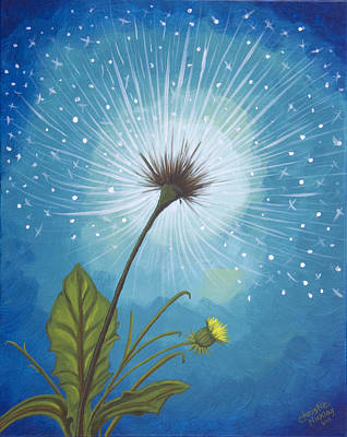Painting - Dandy Dandelion by Christie Nicklay