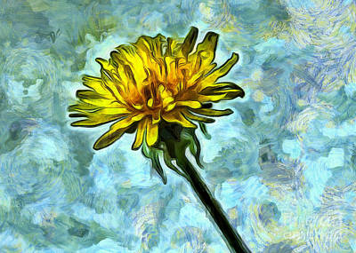 Abstract Digital Photograph - Dandy Flirt by Krissy Katsimbras