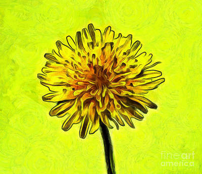 Abstract Digital Photograph - Dandy Joy by Krissy Katsimbras