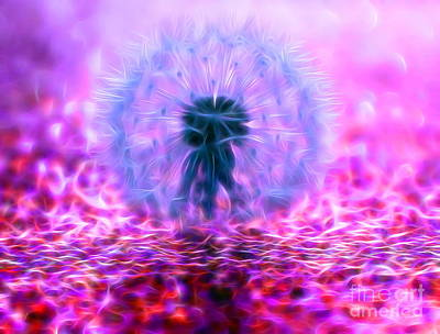 Weed Digital Art - Dandy Magic by Krissy Katsimbras