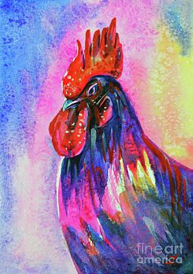 Painting - Dandy Rooster by Zaira Dzhaubaeva