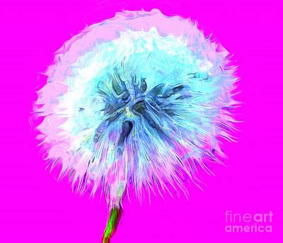 Floral Digital Art Digital Art - Dandylioness by Krissy Katsimbras