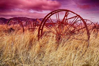 Photograph - Dangberg Home - Farm Machinery by Vinnie Oakes