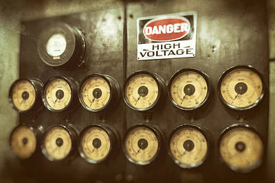 Photograph - Danger High Voltage by Bill Swartwout