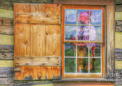 Digital Art - Danger In The Window Hannastown by Randy Steele